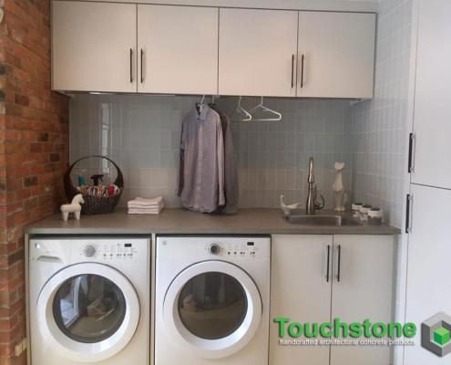 Concrete Laundry Countertop